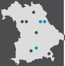 Netzwerkkarte Bayern